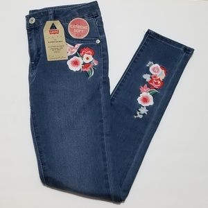 Levi's 710 Super Skinny Embroidered Floral Jeans